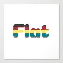 Flat Canvas Print