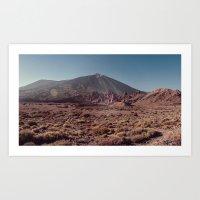 Teide volcano Art Print