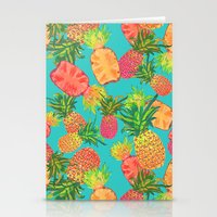 pineapples Stationery Cards featuring Pineapples by Laura Barnes