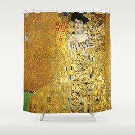 "Gustav Klimt ""Portrait of Adela Bloch-Bauer I"" Shower Curtain"