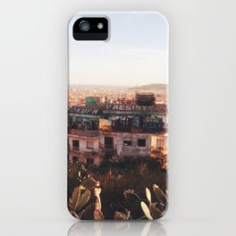 View from Parc Guell, Barcelona iPhone Case