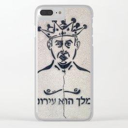 Tel Aviv Street Art / Bibi Netanyahu / The King is Naked Clear iPhone Case