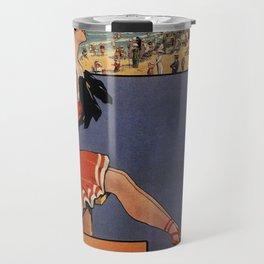 1900 Ostend beach bathing beauty Travel Mug