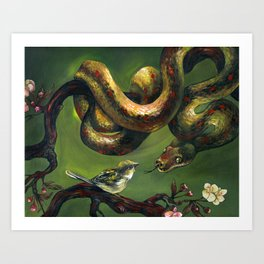 Unlikely Friends Art Print