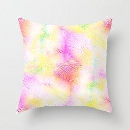Fireworks Pastel Pink Explosion Throw Pillow