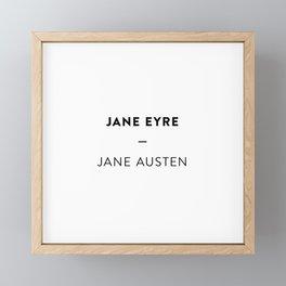 Jane Eyre  —  Jane Austen Framed Mini Art Print