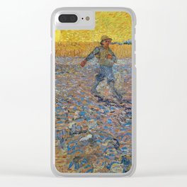 Vincent Van Gogh - Sower with Setting Sun (after Millet), 1888 Clear iPhone Case