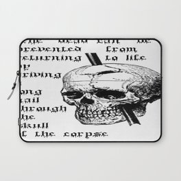 Driving A Long Nail Through The Skull Of A Corpse  Laptop Sleeve
