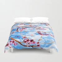 sakura Duvet Covers featuring SAKURA by sametsevincer