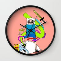 finn Wall Clocks featuring Finn  by TheRealEricEndy