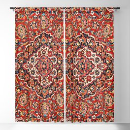 Kashan  Antique Central Persian Rug Print Blackout Curtain
