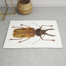 Macrodontia Cervicornis Sabertooth Beetle Rug