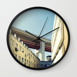 Lisboa Under The Bridge Wall Clock