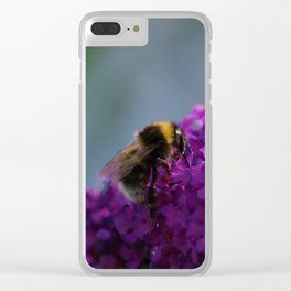 Bee on a Buddleia Flower Clear iPhone Case