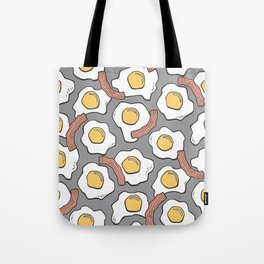 Eggs and Bacon on Grey Tote Bag