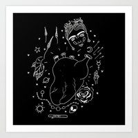 cactei Art Prints featuring Cactei (Inverted) by ☿ cactei ☿