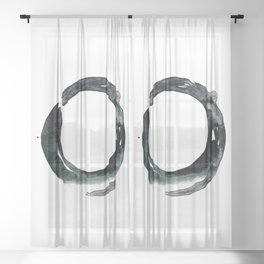 Enso Serenity 45a by Kathy Morton Stanion Sheer Curtain