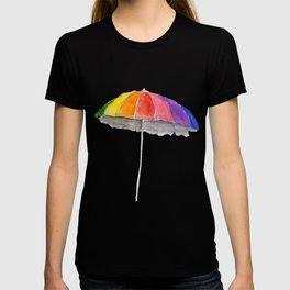 Rainbow Beach Umbrella T-shirt