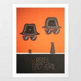 075: Blues Brothers - 100 Hoopties Art Print