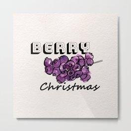 Happy berry christmas III Metal Print