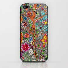 Trees and Flowers zentangle iPhone & iPod Skin