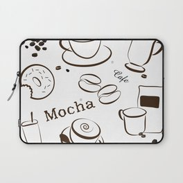 Coffee Background Pattern - 04 Laptop Sleeve