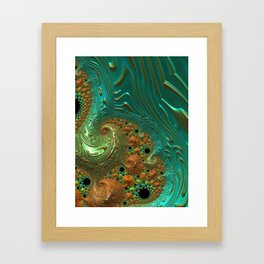 Cool Creamsicle - Fractal Art Framed Art Print