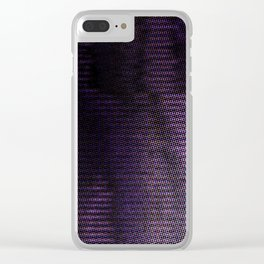 Violet Rays Night Clear iPhone Case
