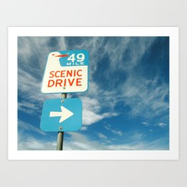 49 mile scenic drive Art Print
