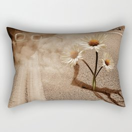 Exhausting Pipe Flowers Rectangular Pillow