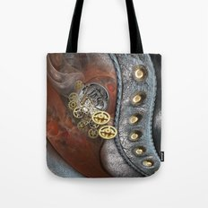 The Wheels of Time & Leather Tote Bag