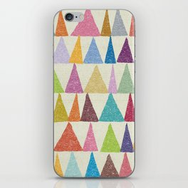Analogous Shapes In Bloom. iPhone Skin