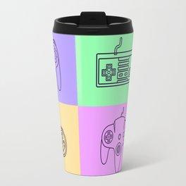 Nintendo Gaming Controllers - Retro Style! Travel Mug