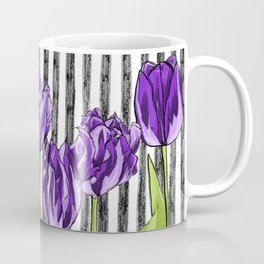 Striped Tulips Coffee Mug