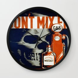 Vintage poster - Don't Drink and Drive Wall Clock