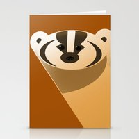 badger Stationery Cards featuring badger by Thomas