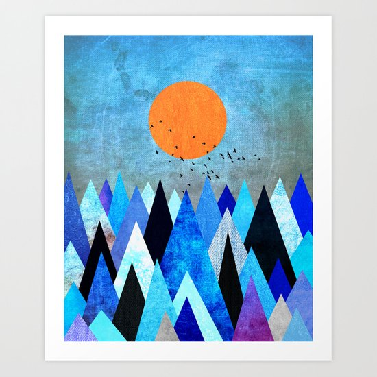Blue Nature XXV Art Print