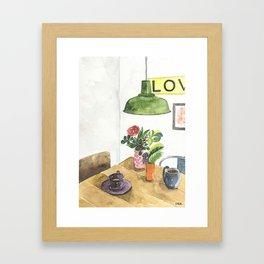 Conversation Series :: Catching up Framed Art Print