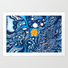 SoCal Love Painting Art Print
