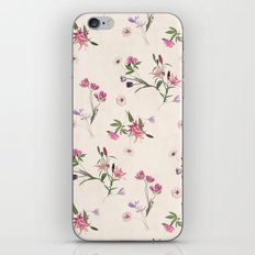 Scattered Floral on Cream iPhone & iPod Skin
