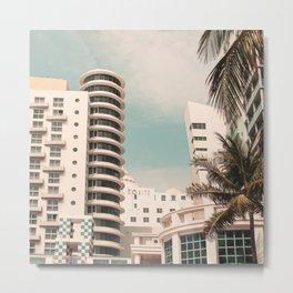 Miami #1 - Modern Art Print Metal Print