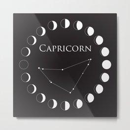 Capricorn Astrology Zodiac Sign Constellation Metal Print