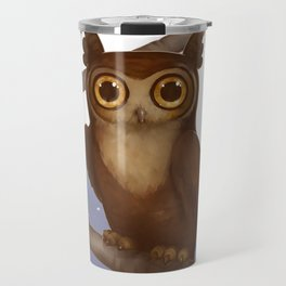 Gallant Great Horned Owl Travel Mug