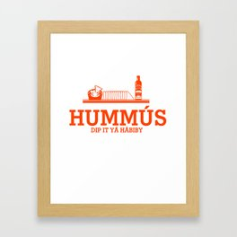 HUMMUS orange Framed Art Print