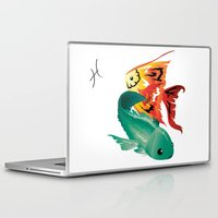 pisces Laptop & iPad Skins featuring Pisces by Rejdzy