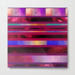 Dazzled Stripy Metal Print