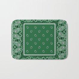 Classic Green Bandana Bath Mat