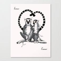Lemur L'amur Canvas Print