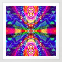 Rainbow Cosmic Journey Art Print