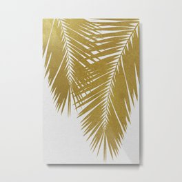Palm Leaf Gold II Metal Print